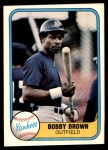 1981 Fleer #95  Bobby Brown  Front Thumbnail