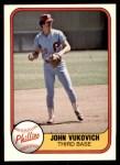 1981 Fleer #22  John Vukovich  Front Thumbnail