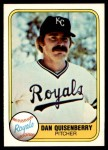 1981 Fleer #31  Dan Quisenberry  Front Thumbnail