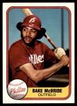 1981 Fleer #9  Bake McBride  Front Thumbnail