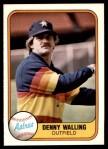 1981 Fleer #66  Denny Walling  Front Thumbnail