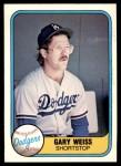 1981 Fleer #130  Gary Weiss  Front Thumbnail