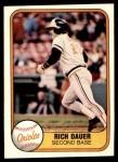 1981 Fleer #182  Rich Dauer  Front Thumbnail