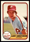 1981 Fleer #8  Larry Christenson  Front Thumbnail