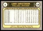 1981 Fleer #8  Larry Christenson  Back Thumbnail