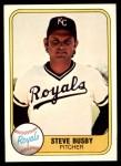 1981 Fleer #33  Steve Busby  Front Thumbnail