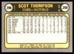 1981 Fleer #296  Scot Thompson  Back Thumbnail