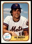1981 Fleer #316  Lee Mazzilli  Front Thumbnail