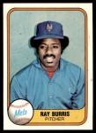 1981 Fleer #328  Ray Burris  Front Thumbnail