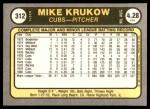 1981 Fleer #312  Mike Krukow  Back Thumbnail