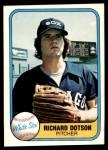 1981 Fleer #356  Richard Dotson  Front Thumbnail