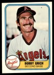 1981 Fleer #269  Bobby Grich  Front Thumbnail