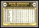 1981 Fleer #348  Wayne Nordhagen  Back Thumbnail