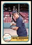 1981 Fleer #348  Wayne Nordhagen  Front Thumbnail