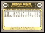 1981 Fleer #355  Bruce Kimm  Back Thumbnail