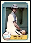 1981 Fleer #353  Thad Bosley  Front Thumbnail