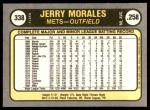 1981 Fleer #338  Jerry Morales  Back Thumbnail