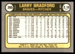 1981 Fleer #265  Larry Bradford  Back Thumbnail