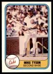 1981 Fleer #315  Mike Tyson  Front Thumbnail