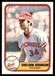 1981 Fleer #220  Sheldon Burnside  Front Thumbnail