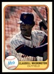 1981 Fleer #329  Claudell Washington  Front Thumbnail