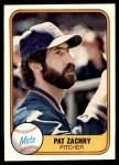 1981 Fleer #334  Pat Zachry  Front Thumbnail