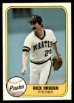 1981 Fleer #377  Rick Rhoden  Front Thumbnail