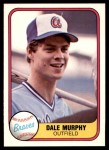 1981 Fleer #243  Dale Murphy  Front Thumbnail