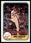 1981 Fleer #290  Andy Hassler  Front Thumbnail