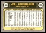 1981 Fleer #331  Joel Youngblood  Back Thumbnail