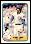 1981 Fleer #305  Dennis Lamp  Front Thumbnail