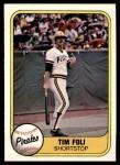 1981 Fleer #379  Tim Foli  Front Thumbnail