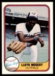 1981 Fleer #421  Lloyd Moseby  Front Thumbnail