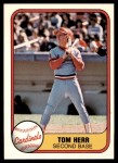 1981 Fleer #550  Tom Herr  Front Thumbnail