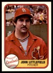 1981 Fleer #535  John Littlefield  Front Thumbnail