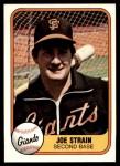 1981 Fleer #458  Joe Strain  Front Thumbnail