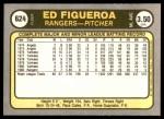 1981 Fleer #624  Ed Figueroa  Back Thumbnail