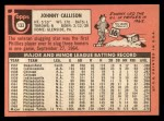 1969 Topps #133  Johnny Callison  Back Thumbnail