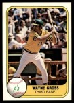 1981 Fleer #587  Wayne Gross  Front Thumbnail
