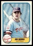 1981 Fleer #634  Jim Norris  Front Thumbnail
