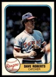 1981 Fleer #636  Dave Roberts  Front Thumbnail