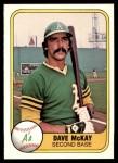 1981 Fleer #592  Dave McKay  Front Thumbnail
