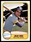 1981 Fleer #601  Julio Cruz  Front Thumbnail