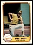 1981 Fleer #499  Barry Evans  Front Thumbnail
