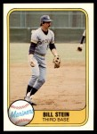 1981 Fleer #605  Bill Stein  Front Thumbnail