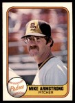 1981 Fleer #503  Mike Armstrong  Front Thumbnail
