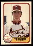 1981 Fleer #528  Ted Simmons  Front Thumbnail