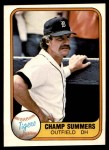 1981 Fleer #466  Champ Summers  Front Thumbnail