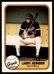 1981 Fleer #451  Larry Herndon  Front Thumbnail