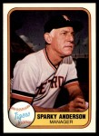 1981 Fleer #460  Sparky Anderson  Front Thumbnail